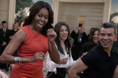 Michelle Obama'dan Conga Dansı
