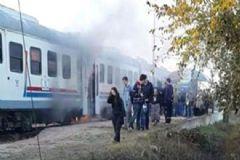 Ödemiş-İzmir Treninde Korkutan Yangın