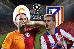 Galatasaray-Atletico Madrid Derbisinde İlk Yarı Sona Erdi