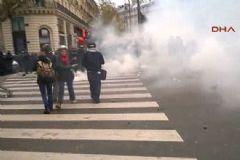 Paris'te Çatışma: 174 Kişi Gözaltına Alındı