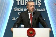 Erdoğan Türk-İş Olağan Genel Kurulu'nda Konuştu