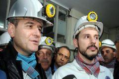 Bakan Berat Albayrak ve BakanSüleyman Soylu Yeni Yılı Maden Ocağında Karşıladı