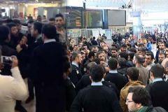 Yolcular Atatürk Havalimanı'nda Olay Çıkardı