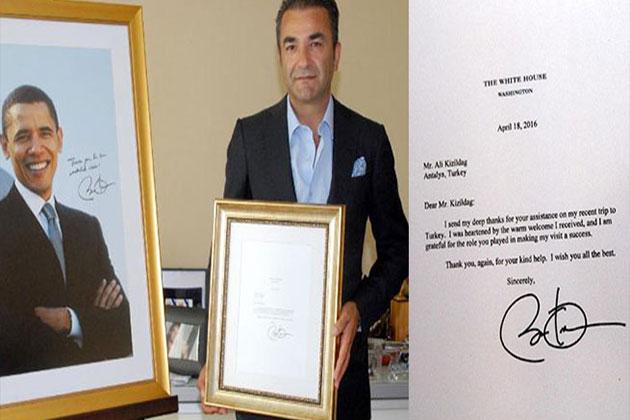 Obama Antalya'da Kaldığı Otele Teşekkür Mektubu Gönderdi