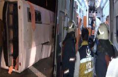 TEM'de Korkunç Kaza: 1 Ölü, 17 Yaralı