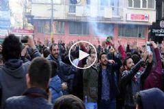 Amedspor Taraftarları Polis Araçlarına Saldırdı