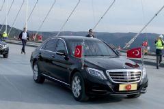 Cumhurbaşkanı Erdoğan 3. Köprüden Geçen İlk Aracı Kullandı