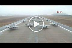 Güney Kore'den 100 Uçakla Fil Yürüyüşü