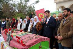 HDP'li Vekiller PKK'nın Sur Sorumlusu Cihat Türkan'ın Cenazesine Katıldı
