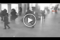 Brüksel Havalimanı'ndaki Patlama Anı Kamerada!