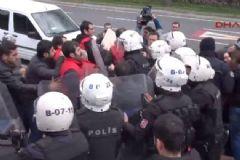 Kartal Heykeli'ne Yürümeye Çalışan Gruba Polis Müdahalesi