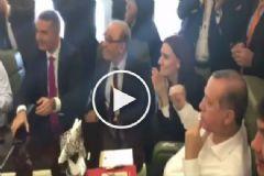 İşte Cumhurbaşkanı Erdoğan'ın Gol Sevinci