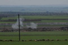 Kilis Sınırında Konuşlu Obüslerle Suriye'deki IŞİD Mevzileri Vuruldu