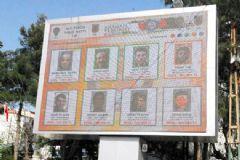 Siirt Valiliği Aranan Teröristlerin Fotoğrafları Billboardlara Astı