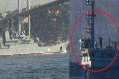 Tartışma Yaratan Rus Savaş Gemisi Yeniden İstanbul Boğazı'ndan Geçti