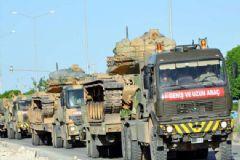Kilis'e Çok Sayıda Tank Ve Zırhlı Araç Gönderildi