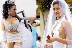 Damadı Düğünden Kaçıracak Tuhaflıkta Gelinlikler