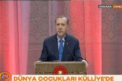 Cumhurbaşkanı Erdoğan Beştepe'de Çocukları Ağırladı