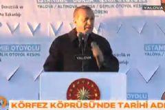 Erdoğan İzmit Körfez Geçişi Asma Köprüsü'nün Son Tabliyesini Yerleştirdi
