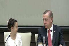Erdoğan Cumhurbaşkanlığı Sarayı'nda Çocukları Kabul Etti