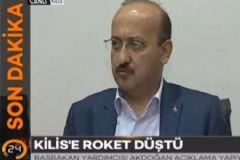 Yalçın Akdoğan'dan Kilis'e Düşen Roket Hakkında Açıklama