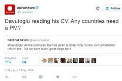 Euronews'ten Küstah Tweet: Başbakana İhtiyacı Olan Ülke Var mı?