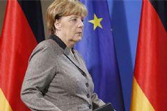 Merkel'in Bürosunun Önüne Kesik Domuz Kafası Bırakıldı