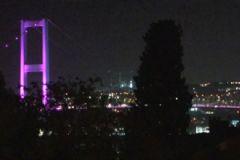Boğaziçi Köprüsü Bisiklet Etkinliği Öncesi Pembe Renkle Işıklandırıldı