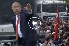 MHP'li Özdağ Polis Barikatının Üzerine Çıktı