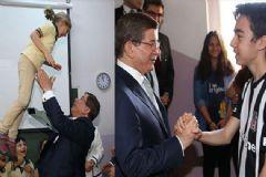 Başbakan Davutoğlu'ndan İlkokul Ve Lise Ziyareti