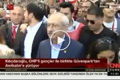 Kılıçdaroğlu Gençlerle Birlikte Güvenpark'tan Anıtkabir'e Yürüyor