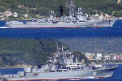 Rus Donanması'na Ait Savaş Gemileri Çanakkale Boğazı'ndan Geçti