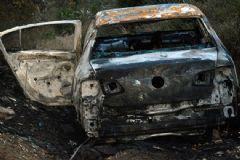 Manisa'da Dere Yatağında Yanan Otomobilde Ceset Bulundu