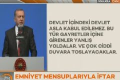 Cumhurbaşkanı Erdoğan Emniyet Mensuplarıyla İftar Açtı