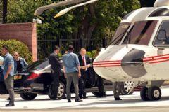 Erdoğan Cumhurbaşkanlığı Yerleşkesine Yapılan Helikopter Pistini İlk Kez Kullandı