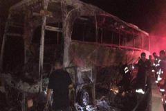 Yolcu Otobüsü Alev Aldı! 2 Ölü 11 Yaralı!