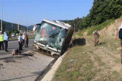 Samsun'da Yolcu Otobüsü Devrildi: 37 Yolcu Yaralı