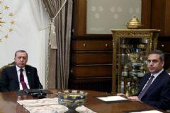 Erdoğan Cumhurbaşkanlığı Sarayı'nda Hakan Fidan'ı Kabul Etti