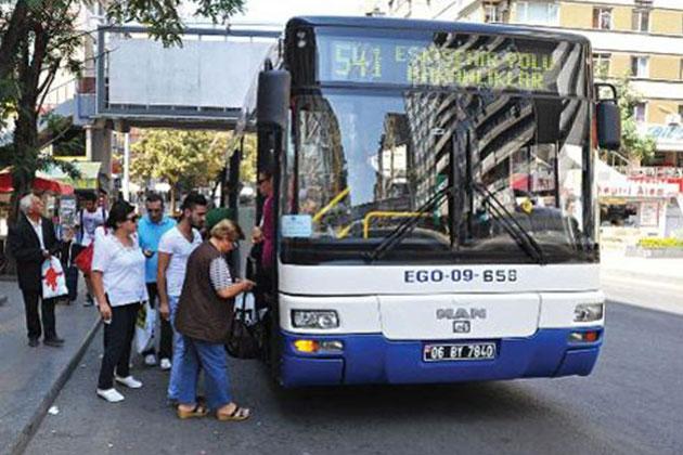 Ankaralılara Bayramda EGO Otobüsleri Bedava