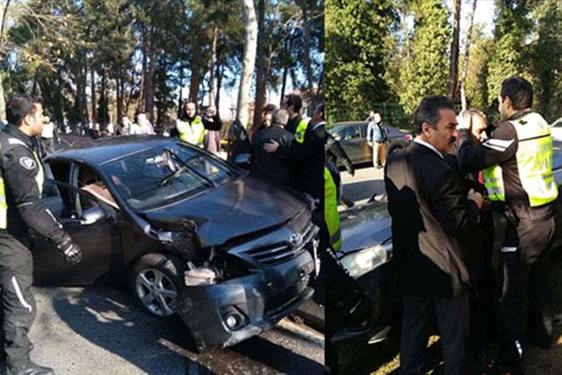 Cumhurbaşkanı'nın Konvoyunda Trafik Kazası