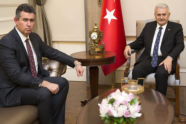 Başbakan Yıldırım Feyzioğlu'nu Kabul Etti