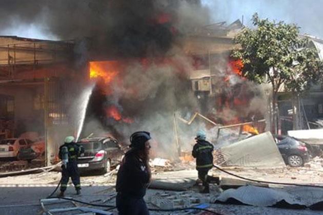 Samsun Sanayi Sitesinde Patlama ve Yangın