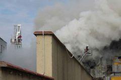 Pendik'te Suni Çim Üreten Fabrikada Yangın Çıktı