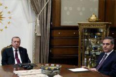 Erdoğan Cumhurbaşkanlığı Sarayı'nda Fidan'ı Kabul Etti