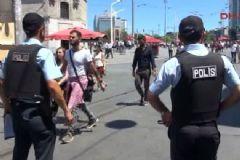 Taksim'de Yoğun Güvenlik Önlemi