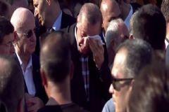 Cumhurbaşkanı Erdoğan Cenaze Töreninde Gözyaşlarına Boğuldu