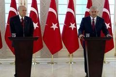 Başbakan Yıldırım ve Devlet Bahçeli Ortak Açıklama Yaptı