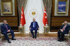 Ankaraya Gelen Erdoğan, Gürcistan Başbakanı'nı Kabul Etti