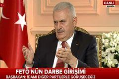 Başbakan Yıldırım: İdamı Diğer Partilerle Görüşeceğiz