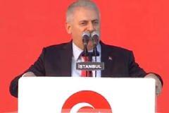 Başbakan Yıldırım Yenikapı'da Konuştu